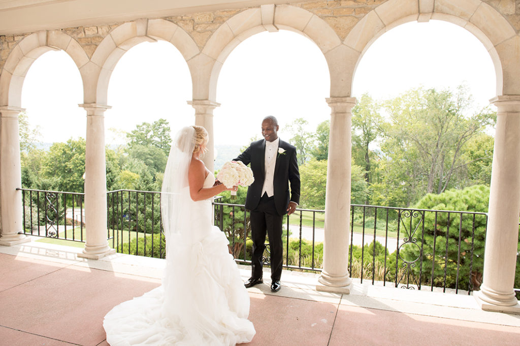 First Look - Alms Park, Cincinnati Wedding Planner