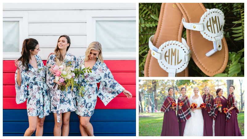 Bridesmaid gifts collage - Wedding Planning
